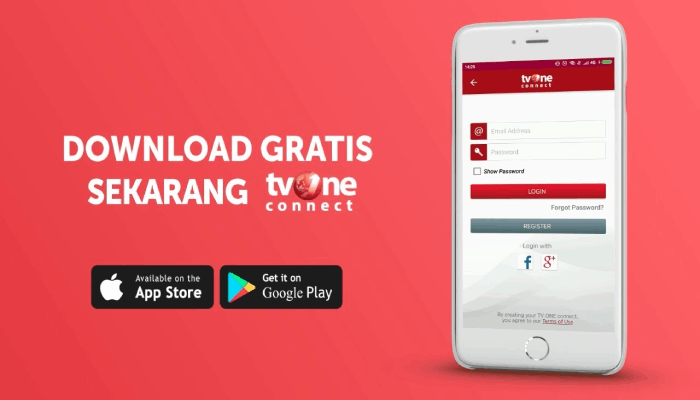 TV One Connect - MAx Stream Aplikasi TV Online Android