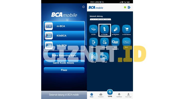Login ke m-BCA Mobile