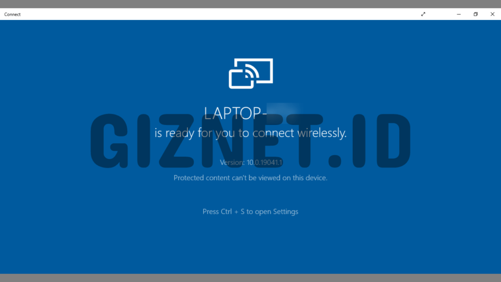 Aplikasi Connect Windows 10
